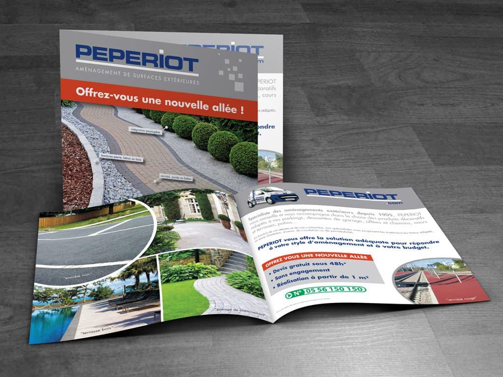 PEPERIOT: brochure carrée - prospection commerciale