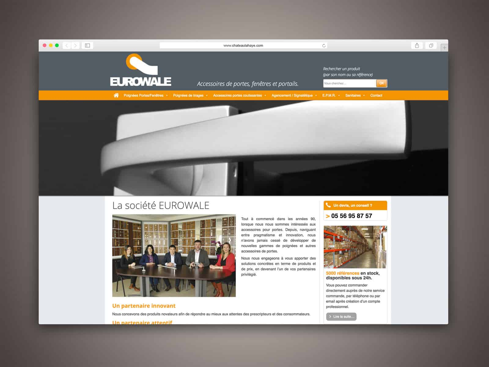 EUROWALE des pages vitrine facilement administrables