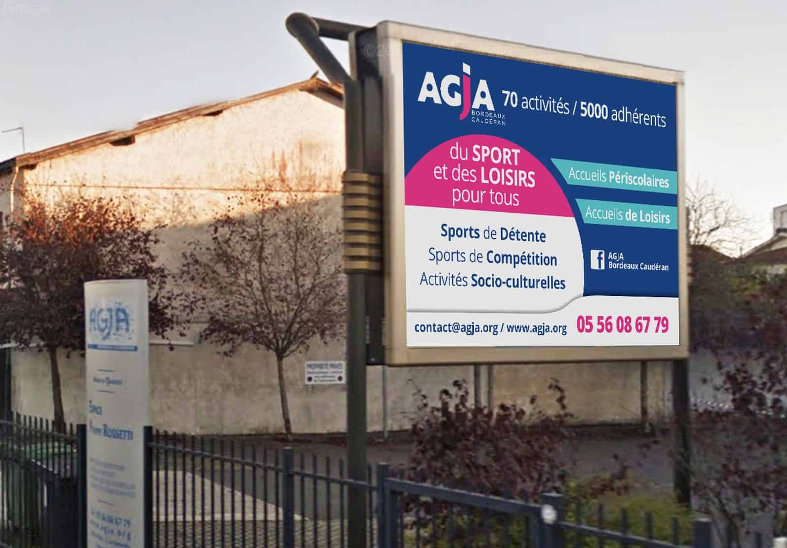 AGJA affiche et beach flags
