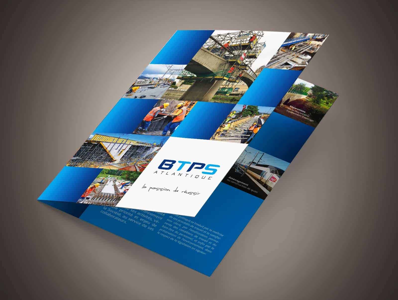 Création d'une très belle plaquette pour BTPS